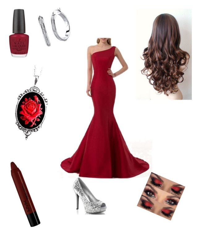 """Red afternoons"" by ashley-platenberg on Polyvore featuring OPI, NYX and Couture by Lolita"