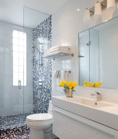 Inspiring Blue And White Bathroom Accessories: Woodlawn