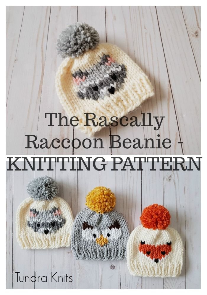 The Rascally Raccoon Beanie - KNITTING PATTERN ONLY #craftstomakeandsell