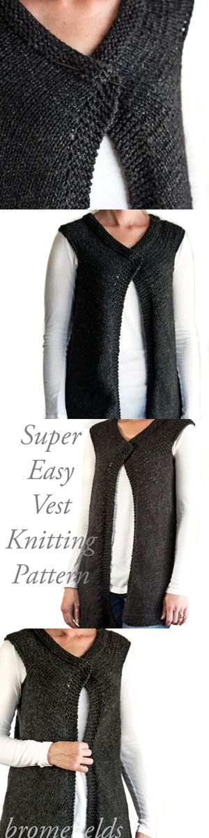 Super Easy Vest Knitting Pattern Brome Fields Blog Pinterest