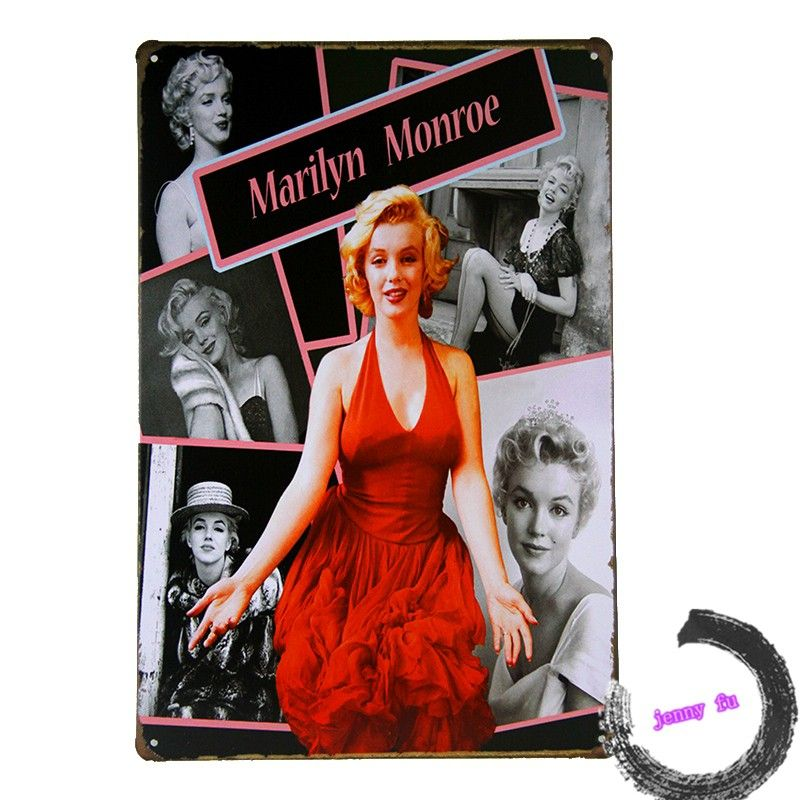 Marilyn Monroe Metal Tin Signs Bar Rustic Poster Home Room Wall Decor K74 $6.98