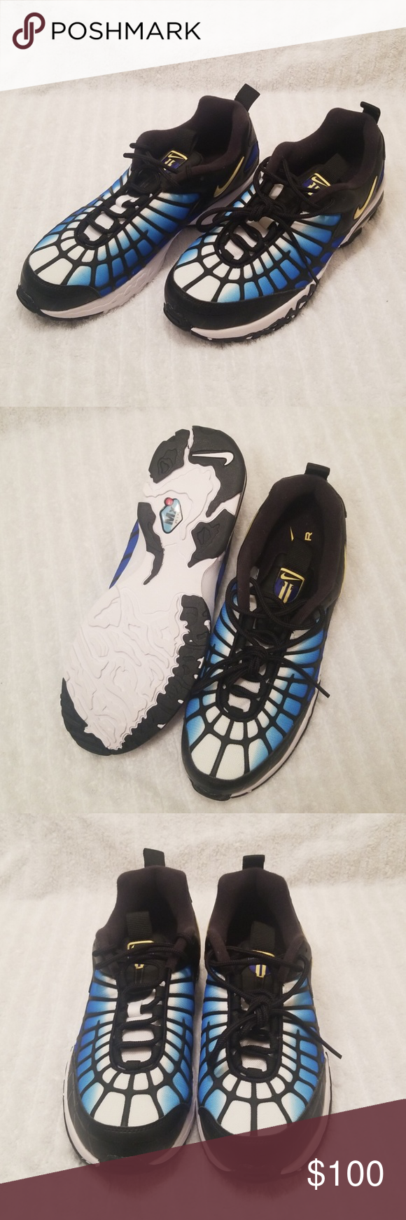 NWOT NIKE AIR MAX 120 RUNNING SHOES 819857-400 NWOT NIKE AIR MAX 120  RUNNING SHOES (HYPER BLUE BLACK WHITE) 819857-400 NEW SIZE 10.5 Nike Shoes  Athletic ... a362c4725