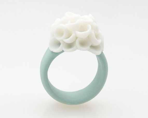 Custom Ring El Medano Porcelain Ring Turquoise and by MaaPstudio, $48.00