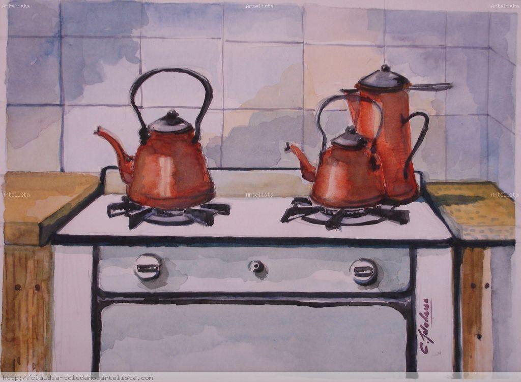 Cuadros de pintura cocina antigua buscar con google - Pintura de cocina ...