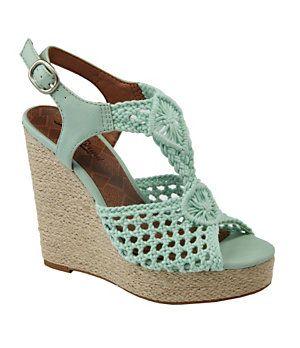 d57c05bb96e Lucky Brand Rilo Crochet Wedge Sandals
