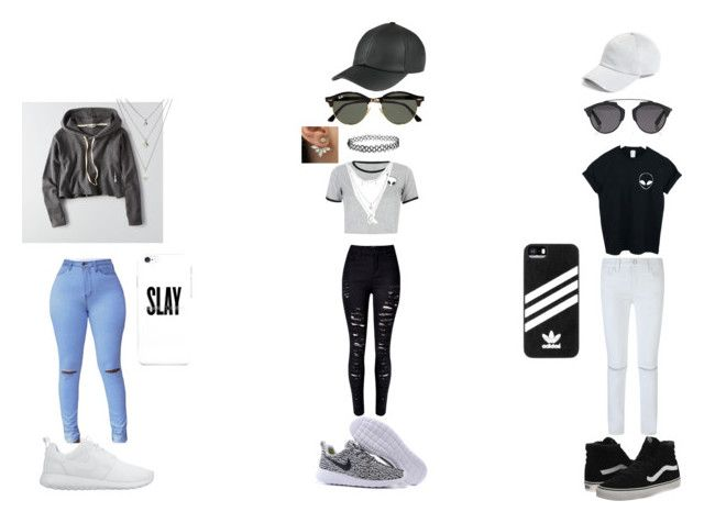 """""""slay"""" by leslie-ramirez-1 on Polyvore featuring WithChic, American Eagle Outfitters, Rebecca Minkoff, NIKE, Vans, Ray-Ban, adidas, Christian Dior, rag & bone and Charlotte Russe"""