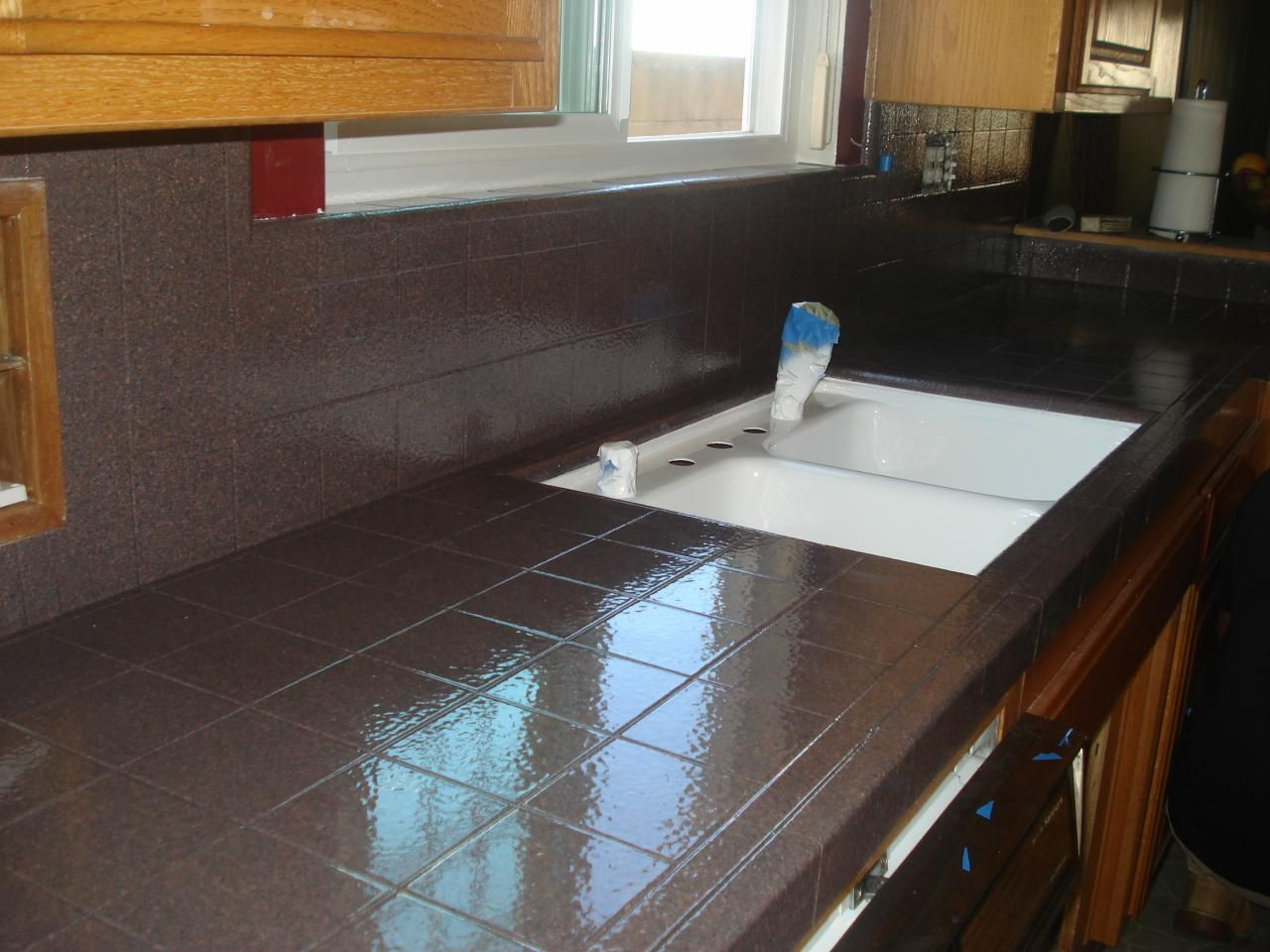 Kitchen Tile Countertops Small White Island Pkb Reglazing Countertop Reglazed Balmorai