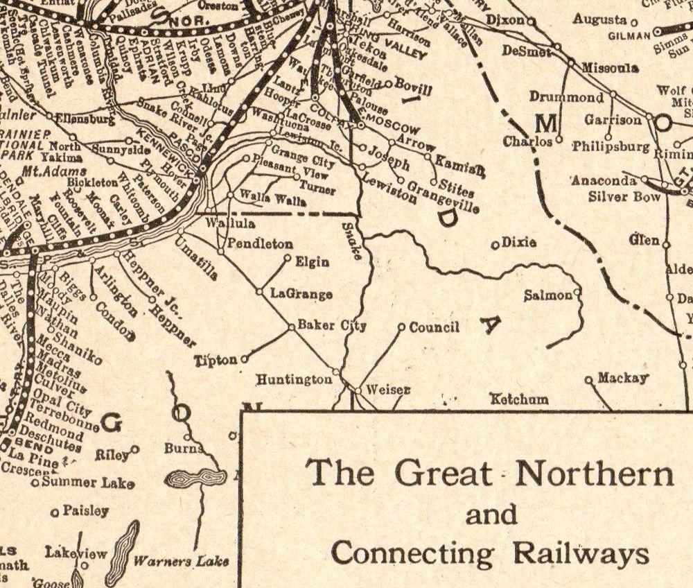 1922 Antique GREAT NORTHERN Railroad Map Vintage Railway Map 5651 ...