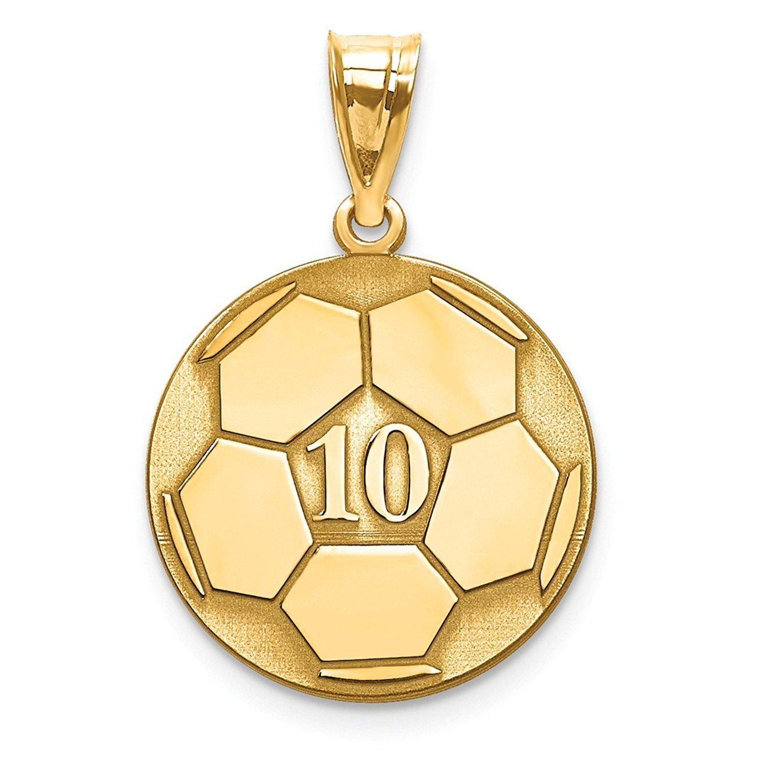 Roy Rose Jewelry 10k Yellow Gold Soccer Ball Custom Personalized Pendant Charm With Number And Name You Can Get Additional Details At Th Gold Gold Sparkle Solid Gold