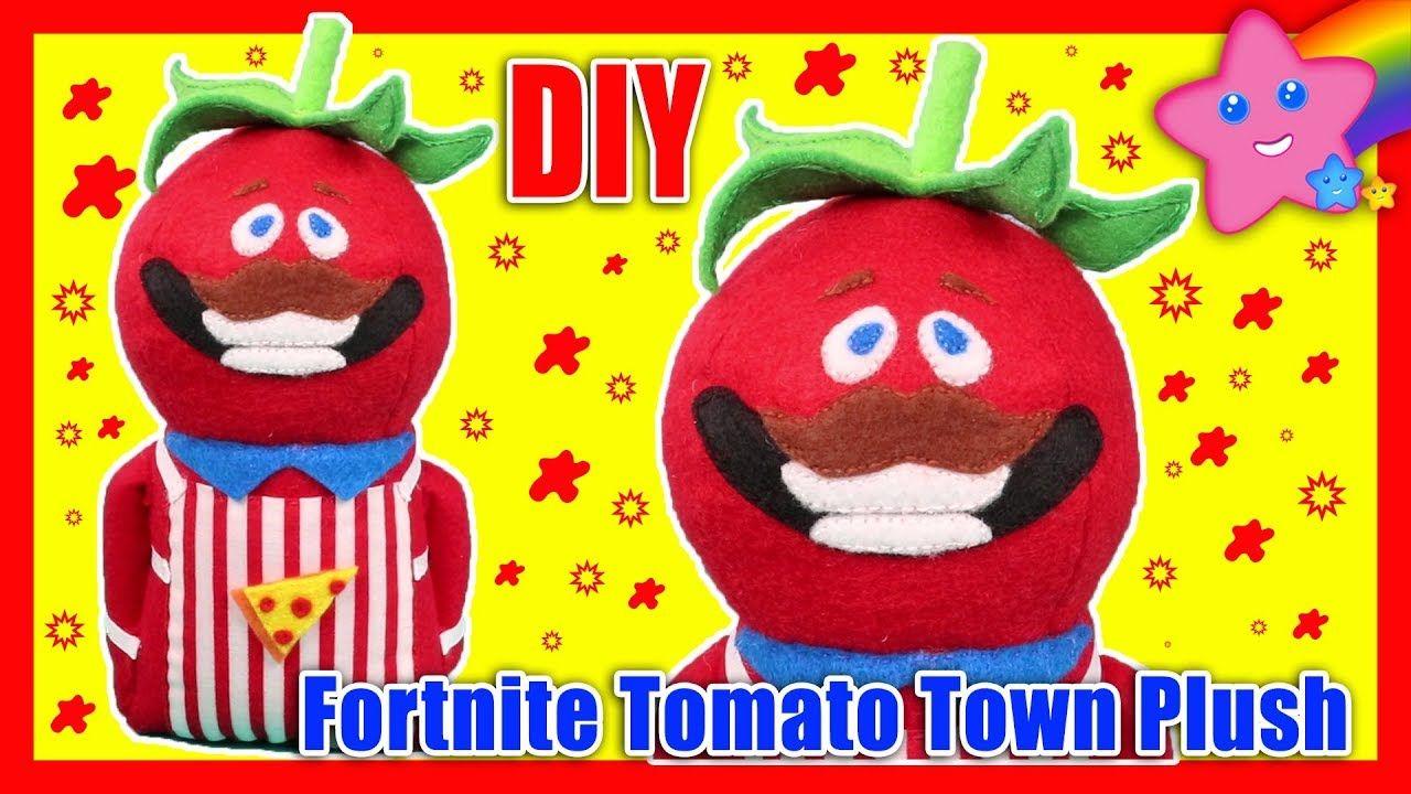 Diy Fortnite Battle Royale Tomato Town Pizza Guy Mascot Plush Out Of