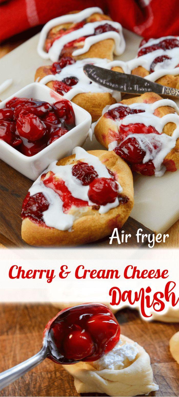 Air Fryer Cherry and Cream Cheese Danish Recipe Cream