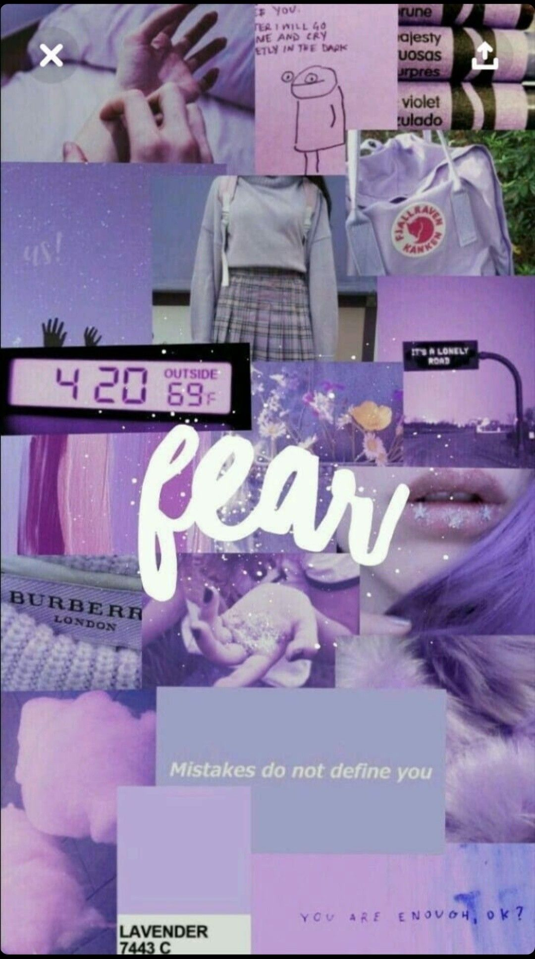 Aesthetic iphone wallpaper by Xochitl Limones | Purple ...