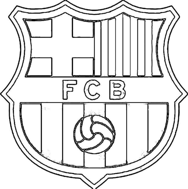 Escudo Barca Colorear Coloring Pages Barcelona Colouring Pages