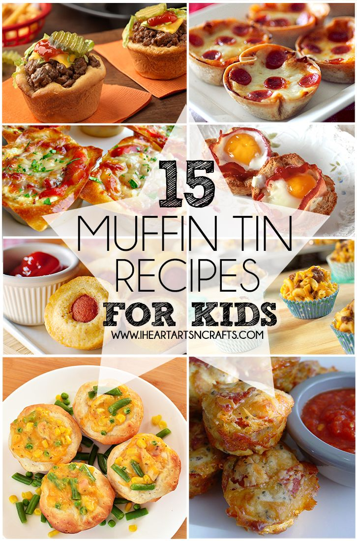 For quick recipe ideas to feed the kids, try these '15 Muffin Tin Recipes For Kids' by Heart Arts n' Crafts
