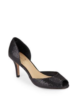 4e9d658ab7 KATE SPADE Sissy Glitter D'Orsay Peep-Toe Pumps. #katespade #shoes #pumps