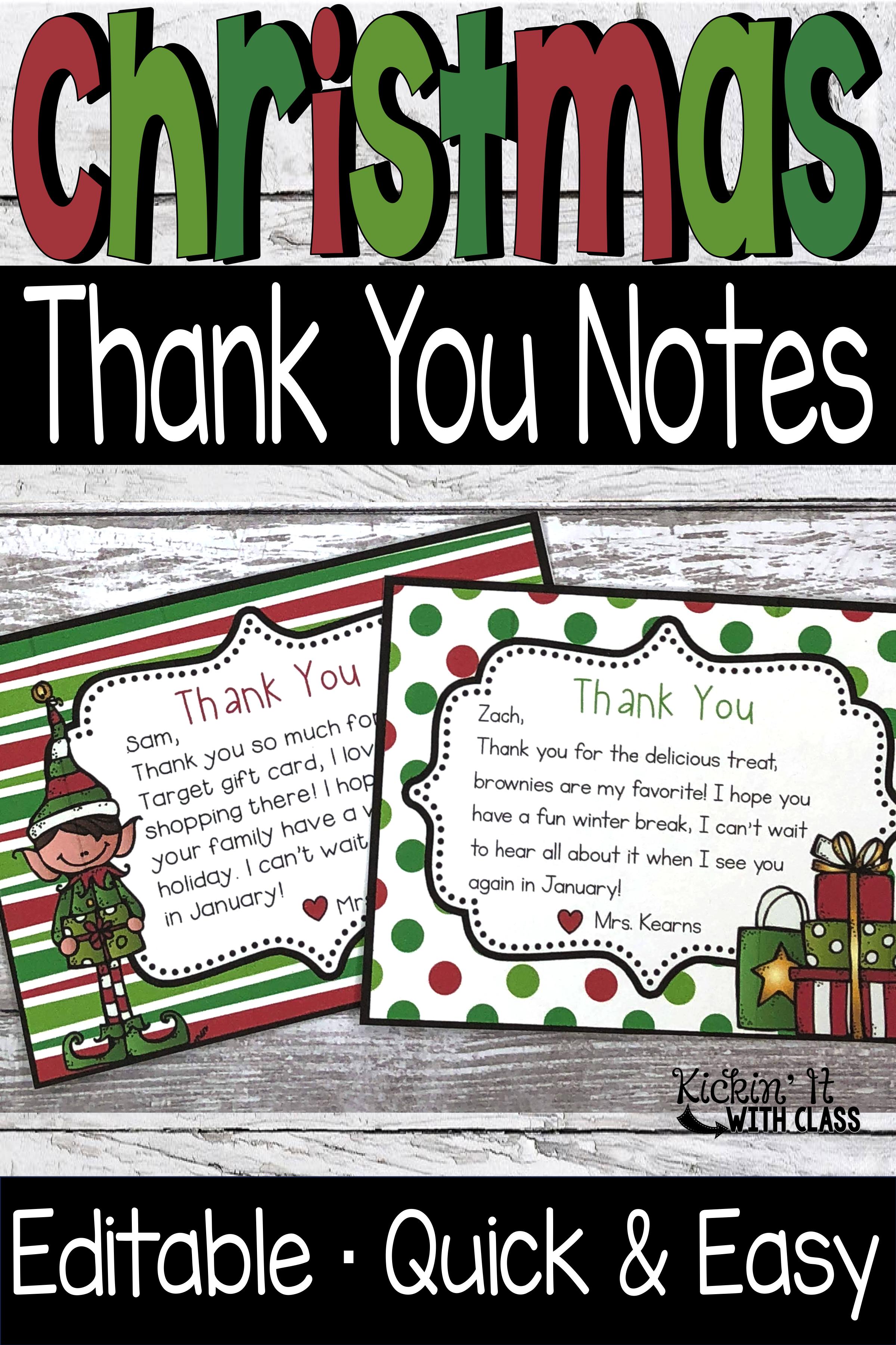Christmas Thank You Notes Heather Kearns Kickin It