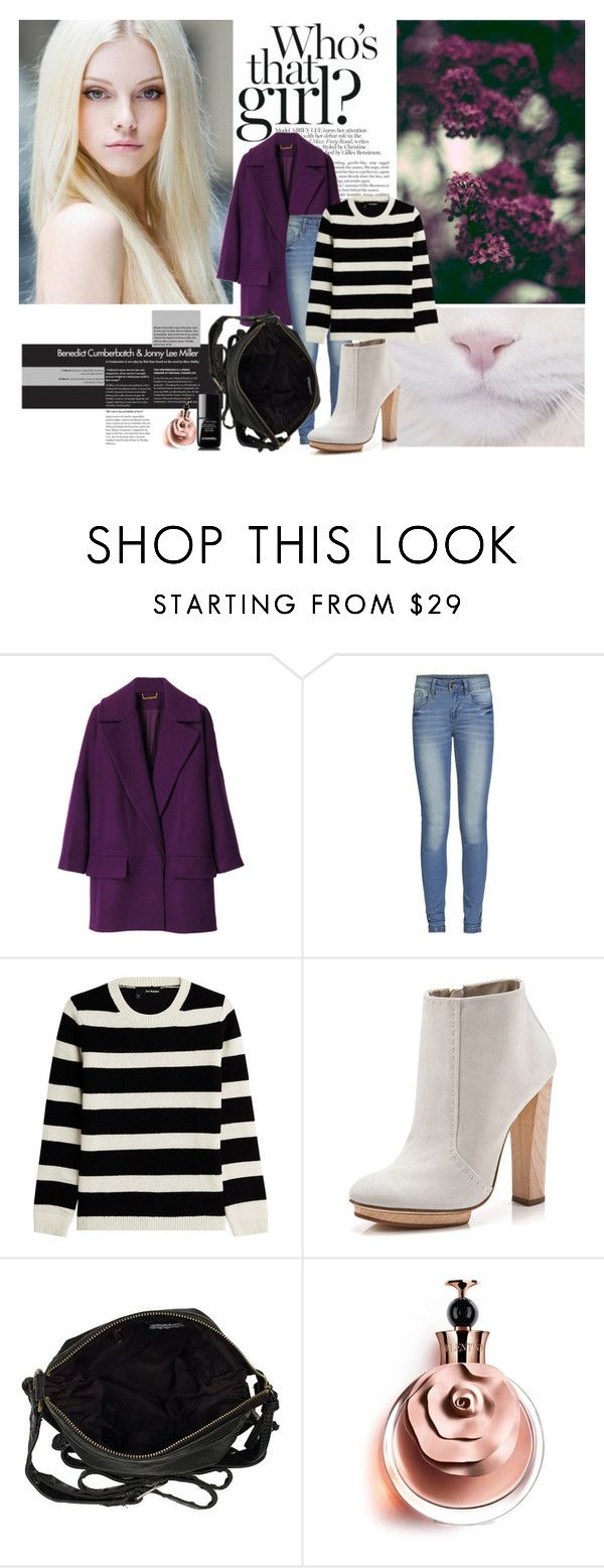 """""""White Cat"""" by jims-96 ❤ liked on Polyvore featuring Mew., Diane Von Furstenberg, ONLY, The Kooples, Dear Frances, River Island, Valentino and Chanel"""