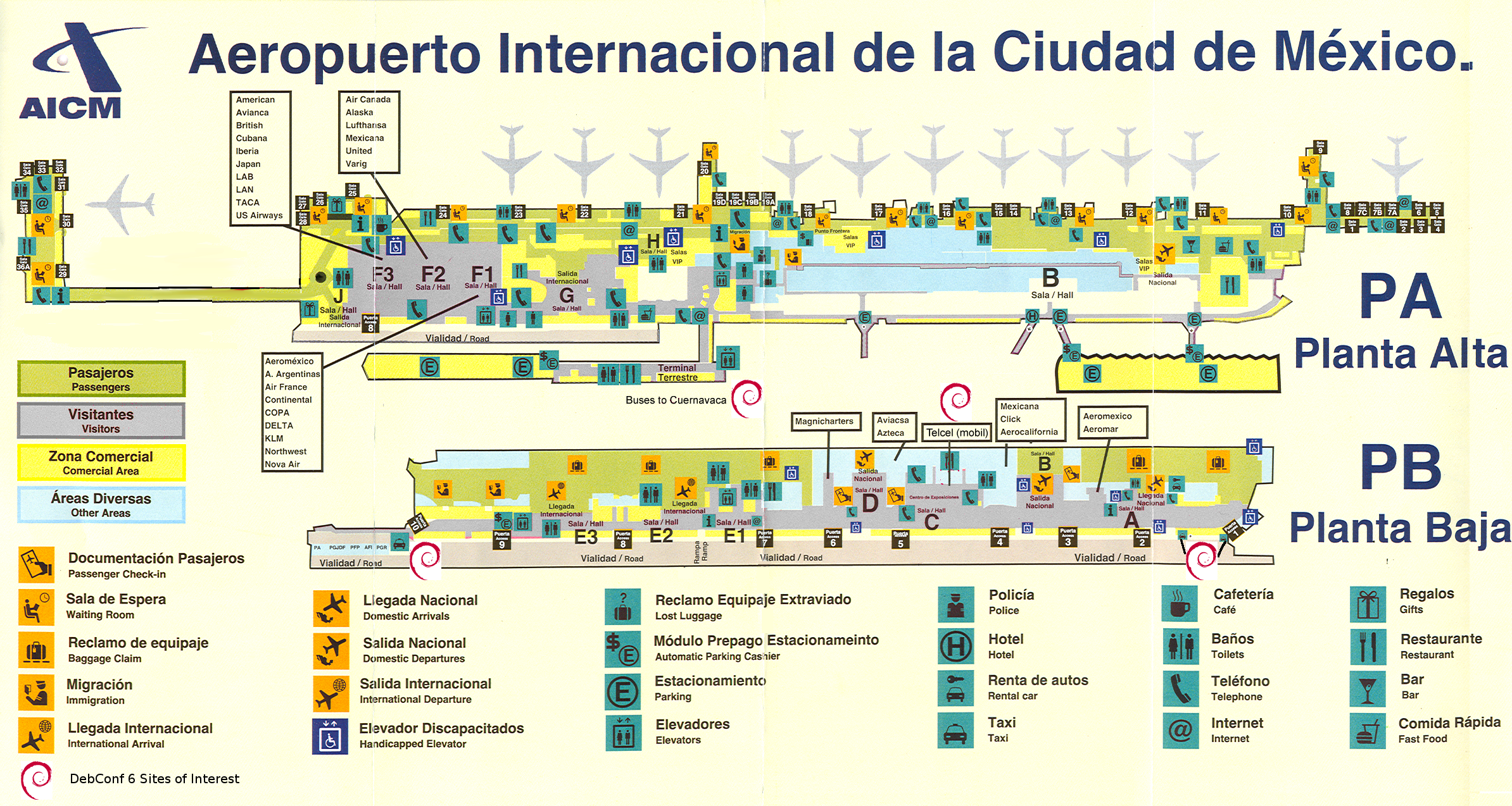 Mexico City Airport Map - Venustiano Carranza Mexico • mappery