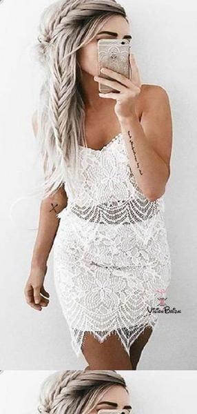 Charming Spaghetti Straps Lace Mermaid Short Homecoming Dresses, 2019 Homecoming Dresses, VB02103 #homecomingdresses #homecomingdresses2019 #homecomin – Hairstyle Straight Homecoming