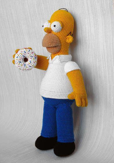 Homero simpson tejido a crochet | Pinterest | Homero simpson, Tejido ...