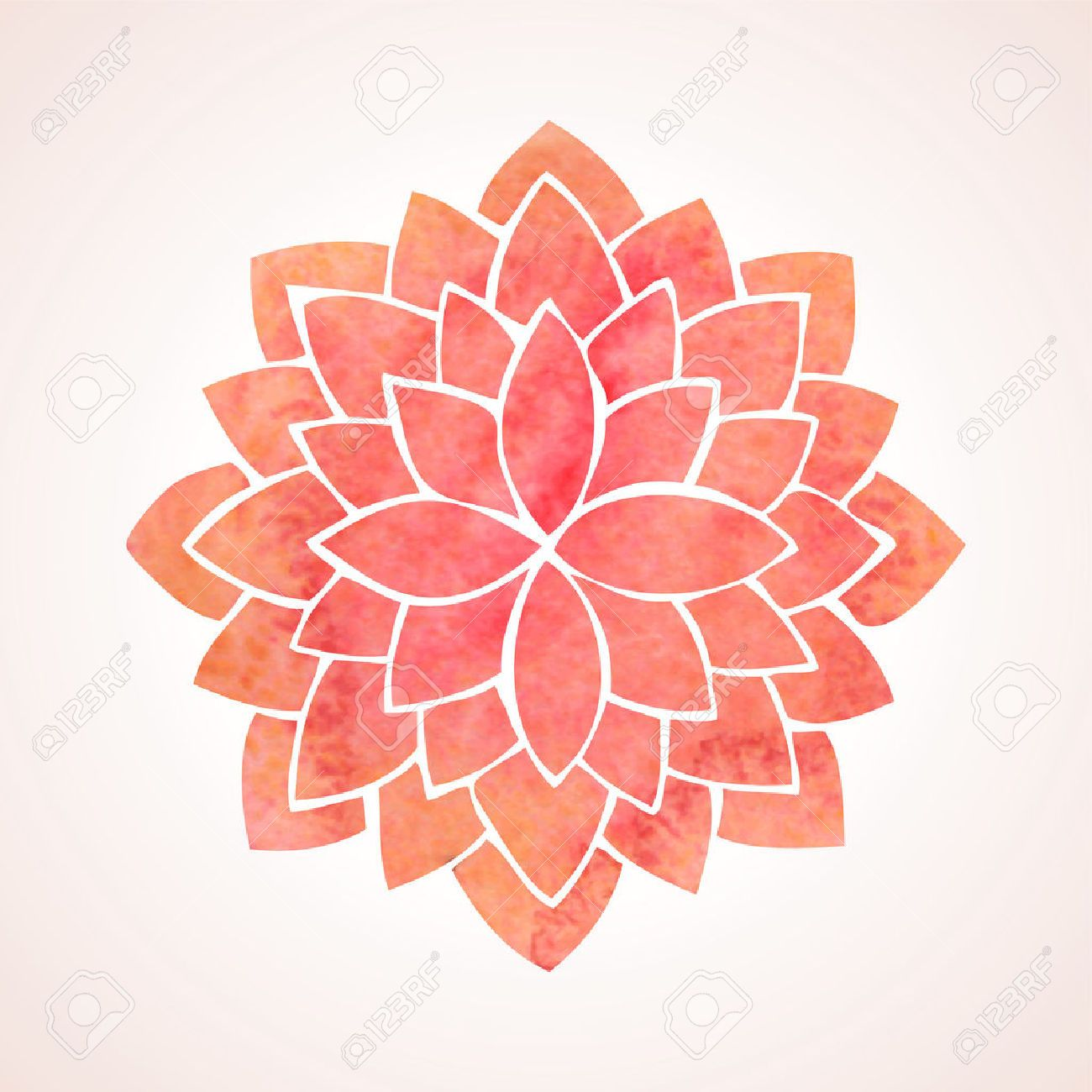 Image result for watercolor lotus flower with space background photo about watercolor red lotus indian oriental circled element for design flower pattern on white background izmirmasajfo