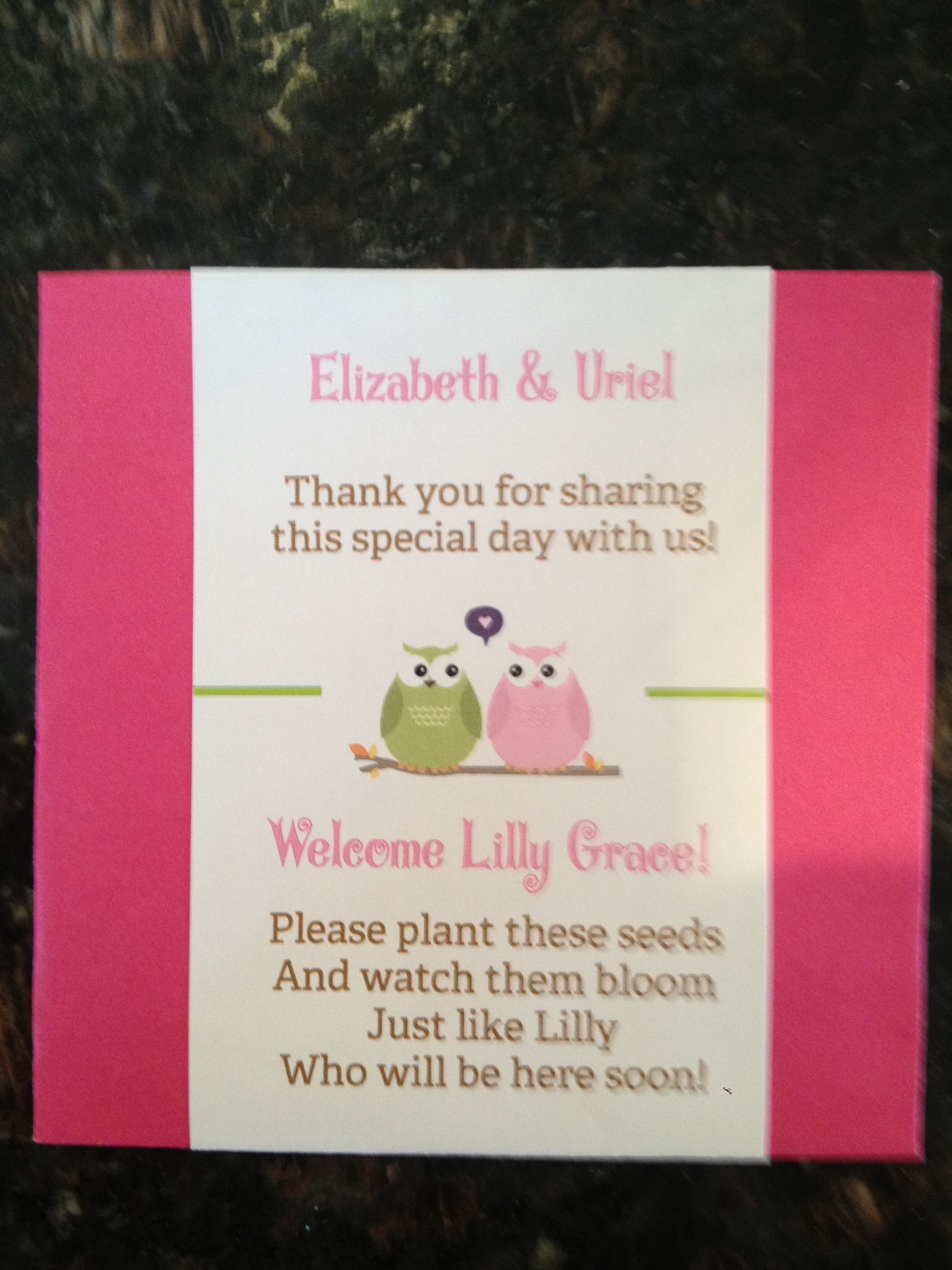 Baby Shower Favors Seeds ~ Baby shower favors seed packets events seed