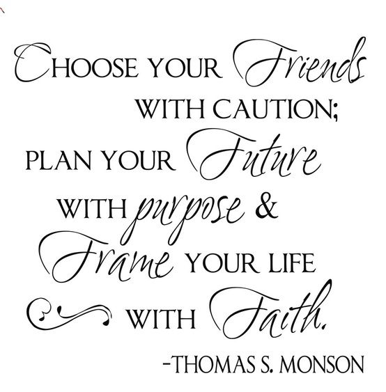 This quote by Thomas S Monson would be wonderful inside a