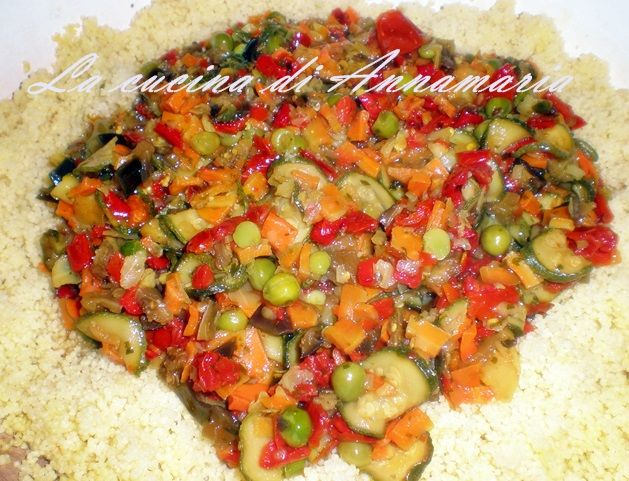 Cous cous alla marocchina con verdure ricetta etnica for Cucinare vegano