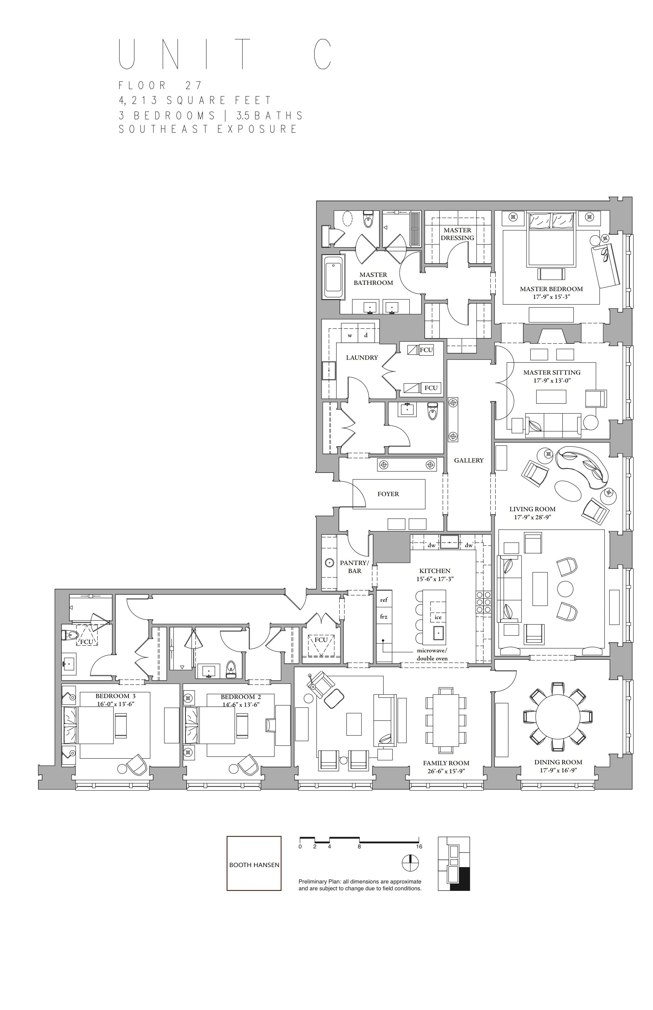 900 North Michigan Avenue Apt C What I D Imagine The Residential Floor Plan Of An International Style Tow Luxury Floor Plans Apartment Floor Plans Floor Plans