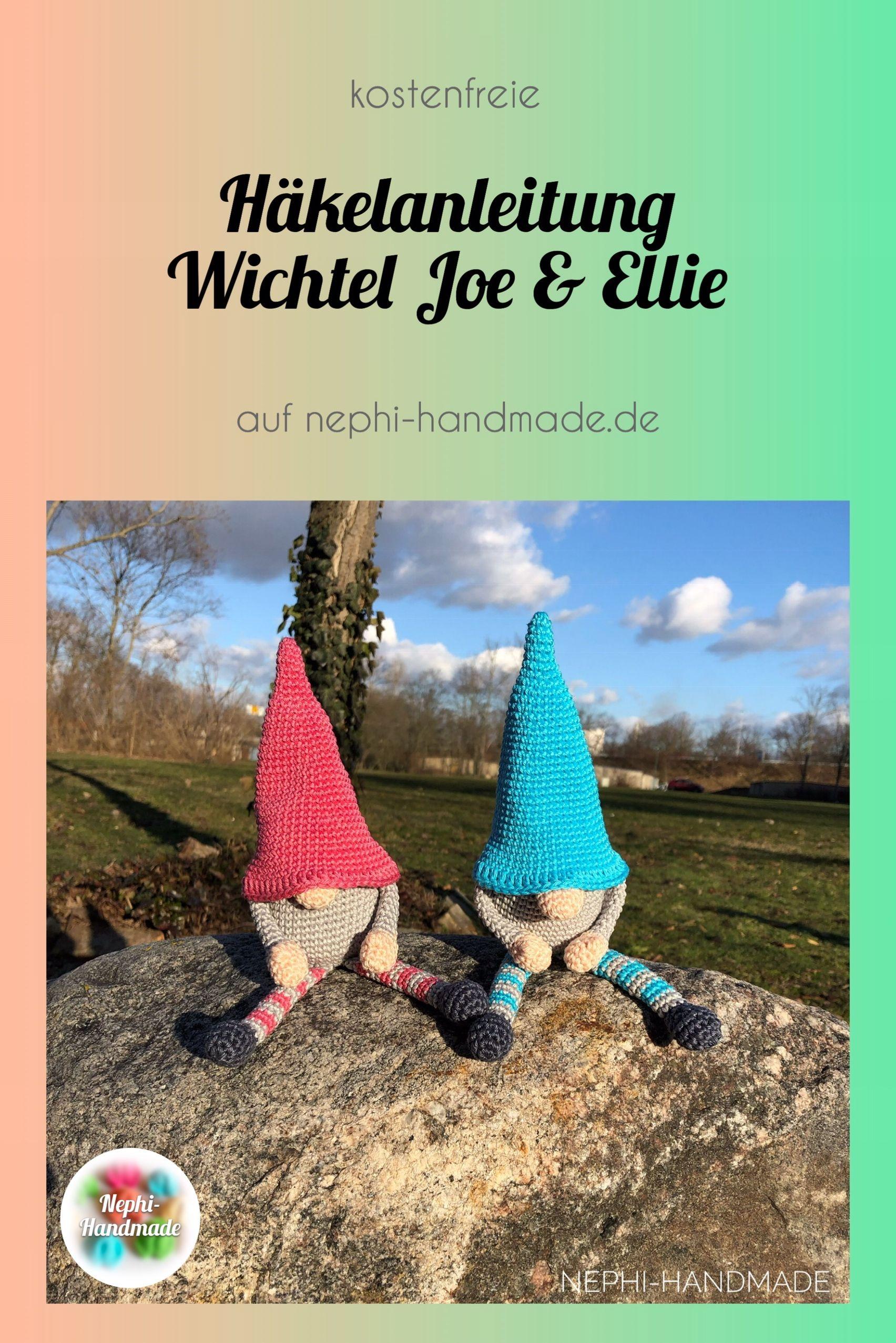 Freie #häkelanleitung Wichtel Joe und Ellie von #nephihandmade #häkeln #crochet #crochetpattern #amigurumis #knittedtoys