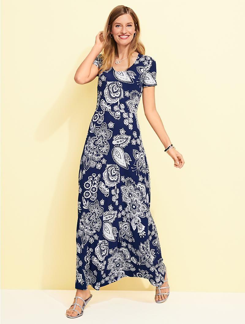 Paisley Knit Maxi Dress Talbots Maxi Knit Dress Maxi Dress Simple Outfits [ 1057 x 800 Pixel ]