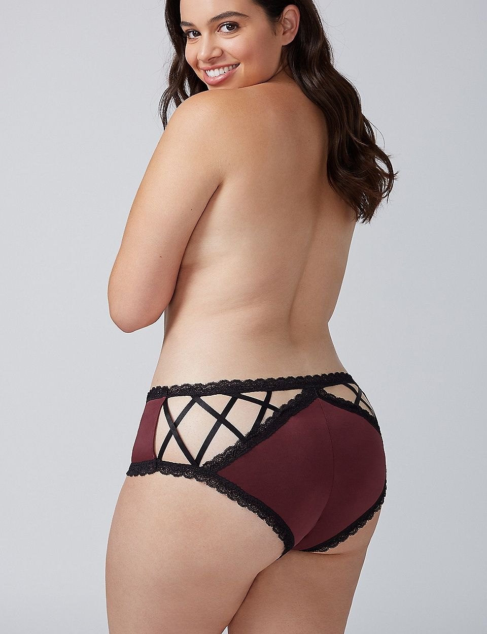 6c091e0ec4ca Strappy-Back Cheeky Panty with Lace Trim | Lane Bryant | Riley ...