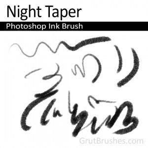 Night Taper - Photoshop Ink Brush in 2019 | Photoshop Brushes