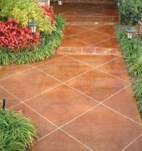 Stained Concrete Patio | Acid Stained Concrete Patio Designs