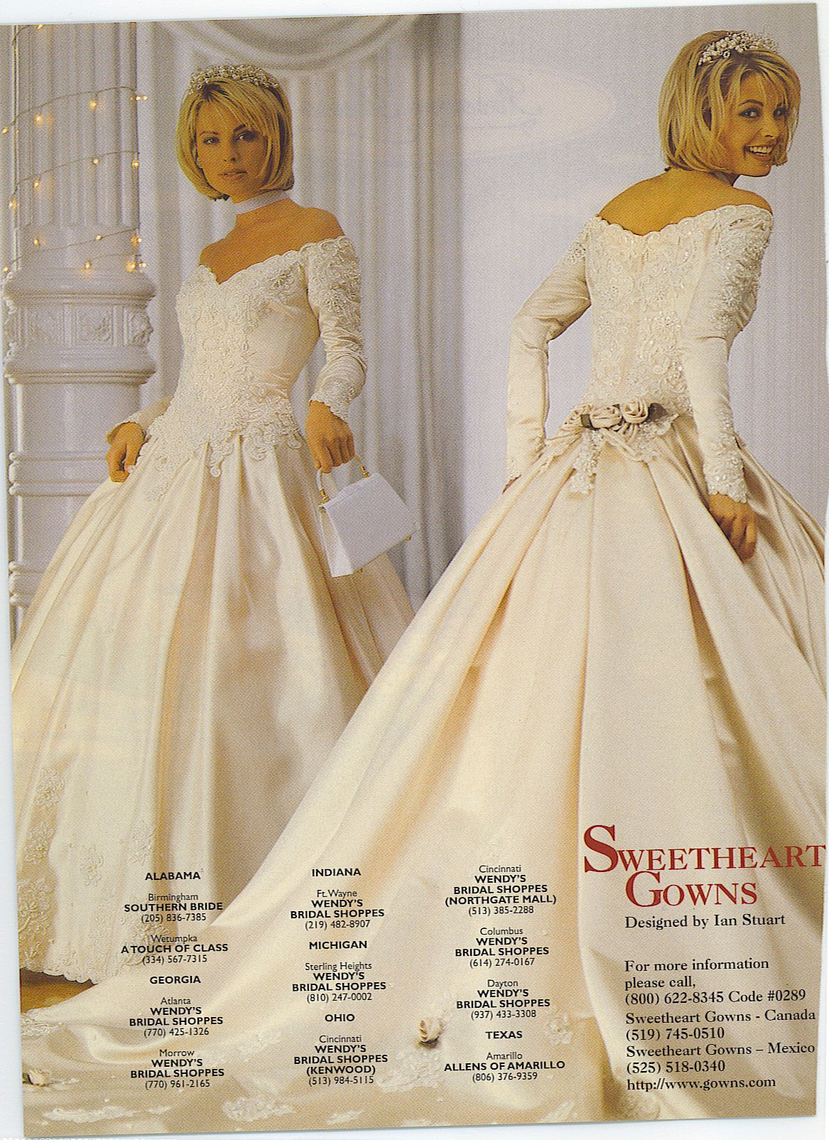 Bride In A 90s Vintage Wedding Gown From Magazine