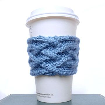 Celtic Plait Coffee Cup Sleeve Pattern Purl Avenue Such A Great