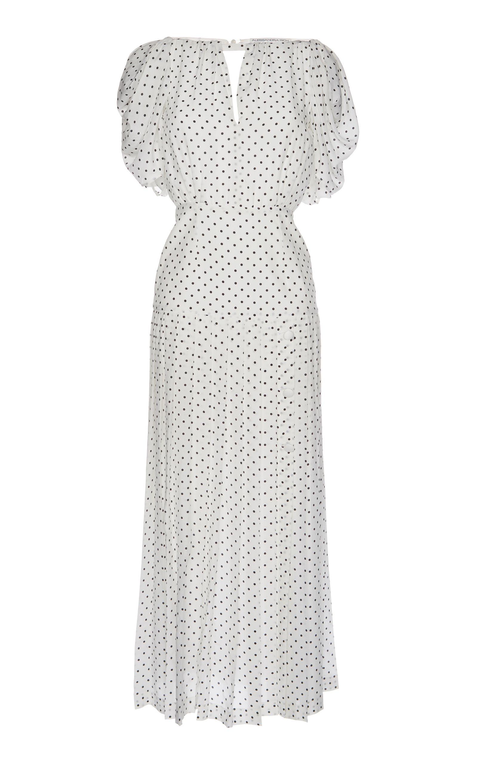 207909423c642 ALESSANDRA RICH POLKA DOT MAXI DRESS. #alessandrarich #cloth ...