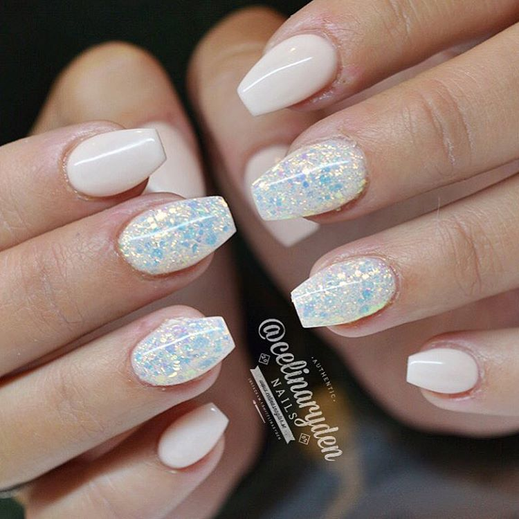 """""""Light Elegance Hard Gels Used: Pink Tutu And Dry A Mix Of"""