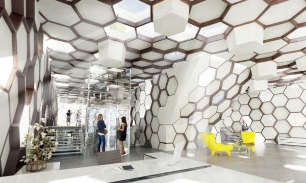 La ruche active buro rh architecture grc concrete for Buro 10 agencement