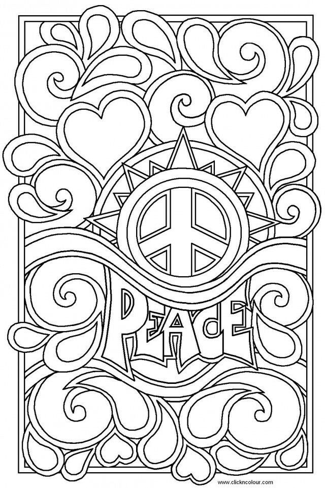 Pin de Stina en Hippie Coloring Pages | Pinterest