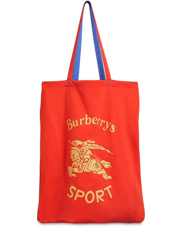 fd8d7b02d396 BURBERRY RUNWAY FW18 SPORT PRINT CANVAS TOTE BAG.  burberry  bags  hand bags   canvas  tote  lining