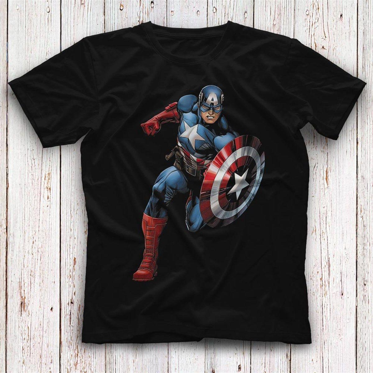 f4848d48 Captain America Black Unisex T-Shirt - Tees - Shirts #captainamerica ...