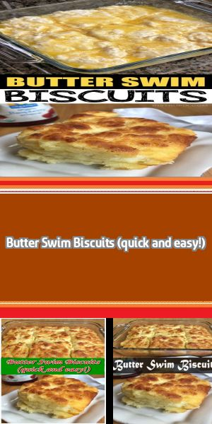 Butter Swim Biscuits (quick and easy!) This simple homemade recipe is TO DIE FOR! The butter makes these biscuits soft and moist on the inside, with a flaky crust on the outside. Add a little jam or jelly, and you've got heaven. #butterswimbiscuits