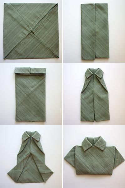 shirt napkin folding idea Entertaining Pinterest Napkin