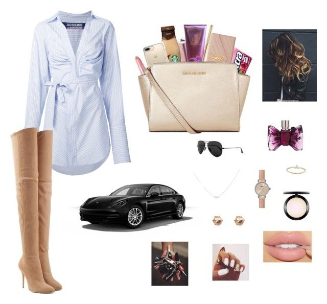 """day off ✌🏼✨"" by jocelynpm on Polyvore featuring Samsung, Victoria's Secret, Yves Saint Laurent, Jacquemus, Rodin, Balmain, Speck, MICHAEL Michael Kors, Ray-Ban and Accessorize"