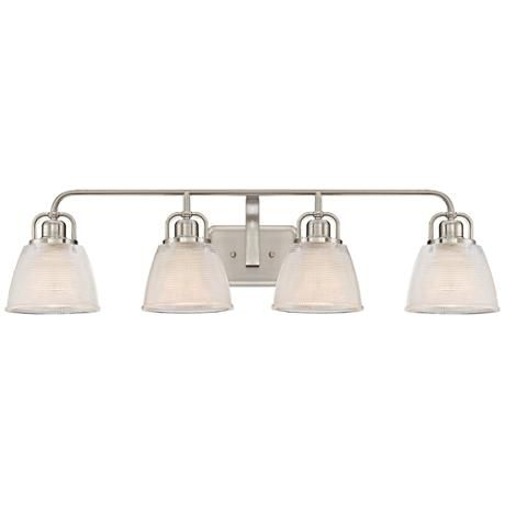 Photo of Quoizel Dublin 34 1/2″ Wide Brushed Nickel Bath Light – #1P815 | Lamps Plus