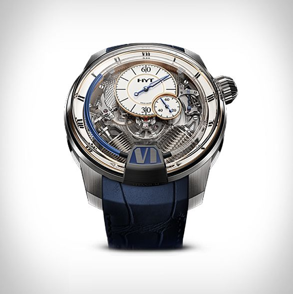 76ea4ae3c91 HYT é uma marca de relógios suíços que cria relógios mecânicos híbridos…