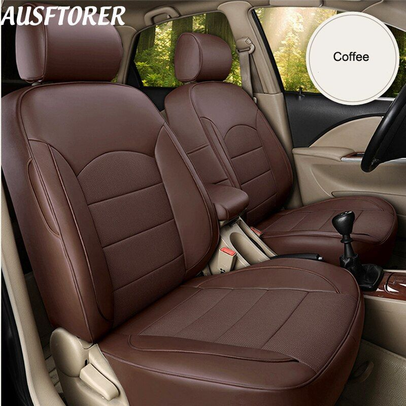 Ausftorer Exact Fit Genuine Leather Automobiles Seat Covers For Volvo Xc70 Car Seat Cover Sets Accessories Protecto Car Seat Cover Sets Car Seats Carseat Cover