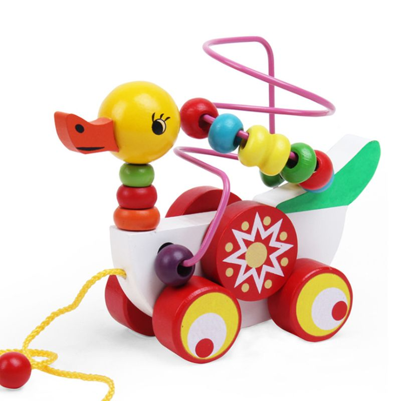 Duckling Trailer Toy Baby Wooden Toys Children Educational ...
