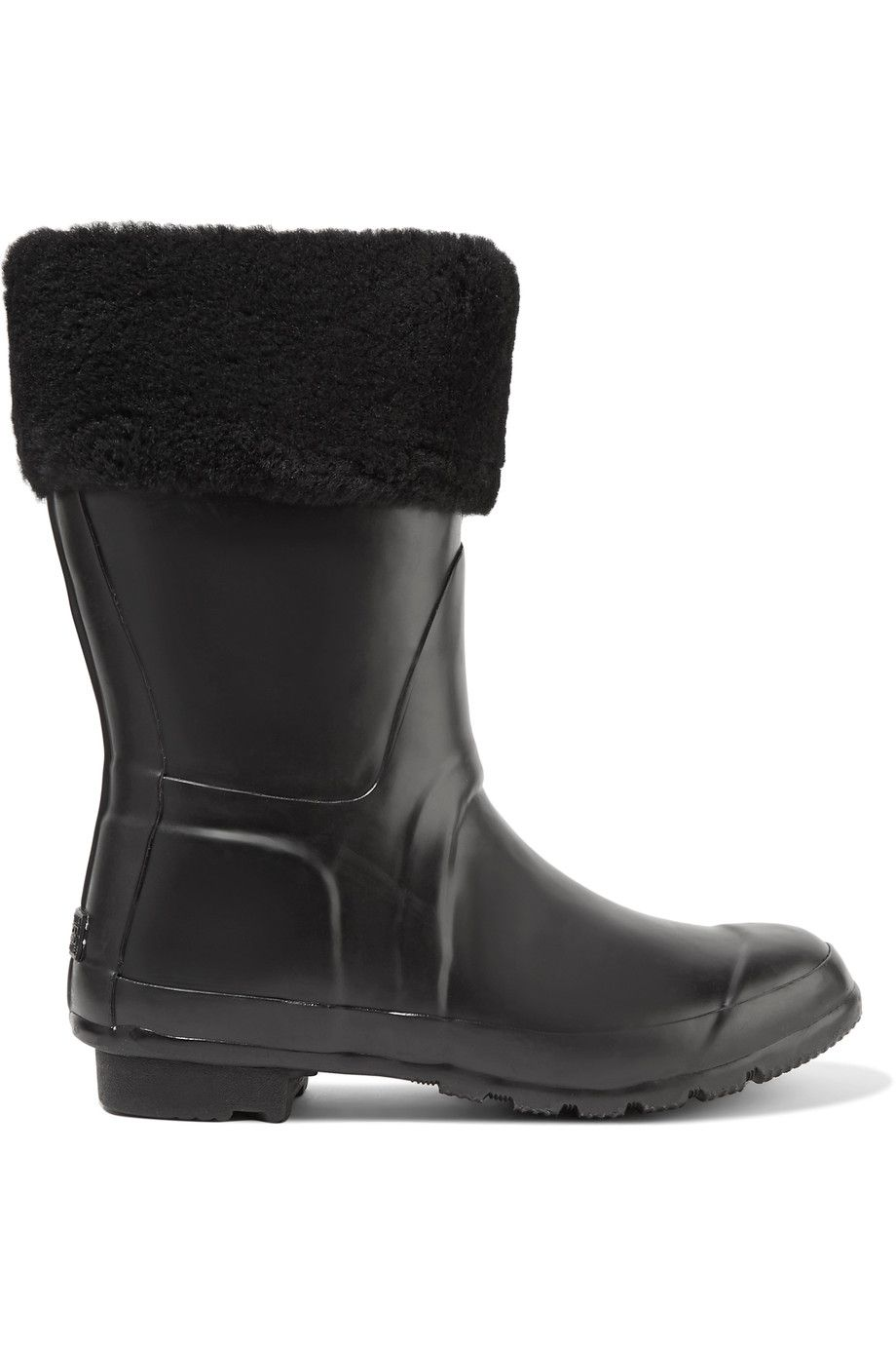 Australia Luxe Collective Woman Dukes Shearling-trimmed Rubber Rain Boots Size 7 6eH65z